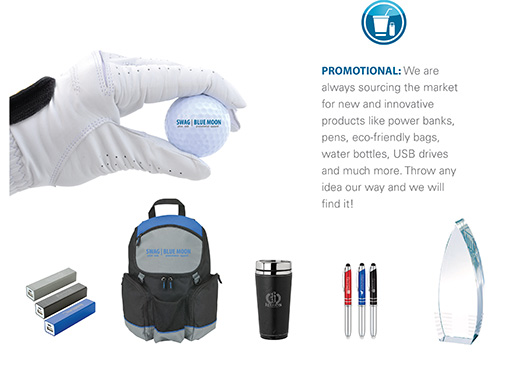SWAG Promotional Products Slide